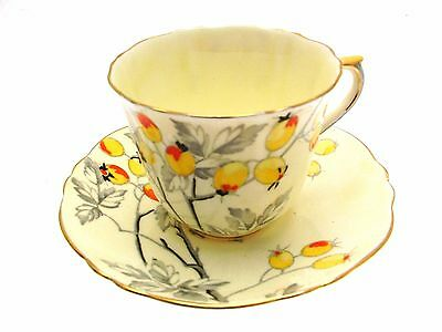 Crown Staffordshire F14557 Lemon Cup and Saucer