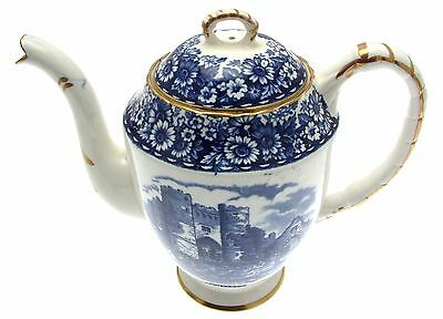 William Hudson Sutherland Historical Britain Blue Coffee Pot