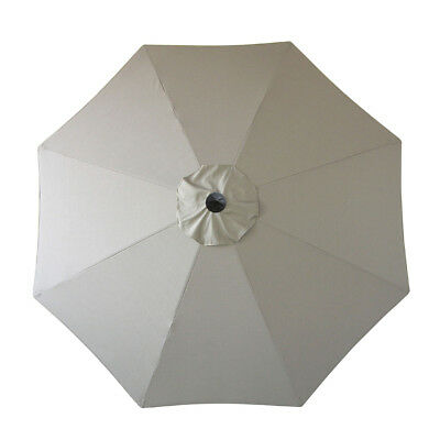 Sunbrella Patio Umbrella Replacement Canopy Only For 9ft 8 Ribs Canvas Taupe