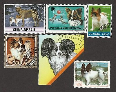 PAPILLON ** Int'l Dog Postage Stamp Collection  **Great Gift Idea**