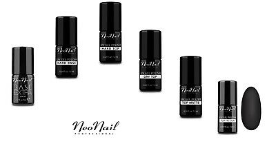 NeoNail 6x UV Nagellack Hard Top Hard Base  Base EXTRA Top Velour Top Dry Matte