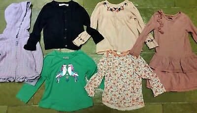 6 items Cotton on kids dress top & cardigan H&M top mix zip hoodie Sz 2