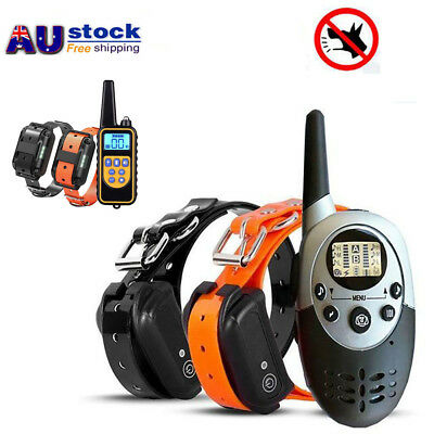 Waterproof Rechargeable LCD Pet Dog Remote Control Vibrate Trainer Collar 800M