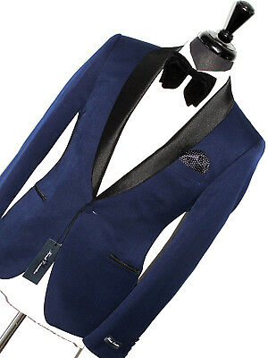 Bnwt Mens French Connection Tuxedo Dinner Shawl Collar Suit 44R W38 X L32