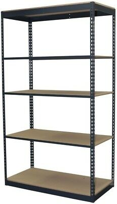 Storage Concepts 96 in. H x 48 in. W x 24 in. D 5-Shelf Steel Boltless Shelving