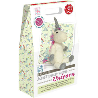 The Crafty Kit Co. Knitting Kit - Knit your own Unicorn - Knitting for Beginners