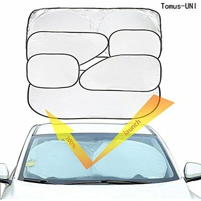 Tomus-UNI 6 Piece Car Window Sunshade Protector Foldable Windshield UV Reflector