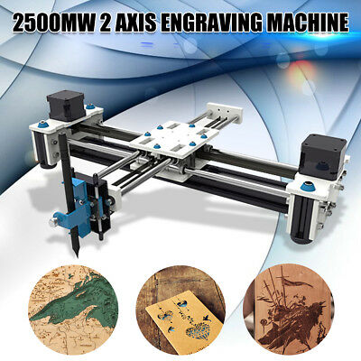 2500mW EleksMaker Mini Laser Engraving Drawing Machine CNC Laser Printer 28x20cm