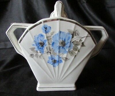 STYLISED ANTIQUE FRENCH ANGULAR EMPIRE STATE BUILDING SUGAR BOWL ST AMAND c1920s