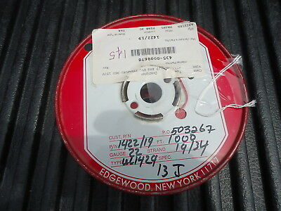 New Spool/wire P/n 1422/19, 1000' Long. 22 Awg Pvc Stranded Red, 150V