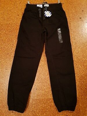 Brand New Pumpkin Patch Boys Thick Black Pull On Pants Size 10