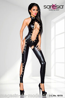 Wetlook-Overall Clubwear ouvert