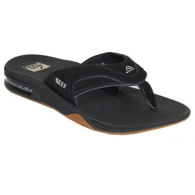 Reef Fanning Mens Footwear Sandals - Black Silver All Sizes
