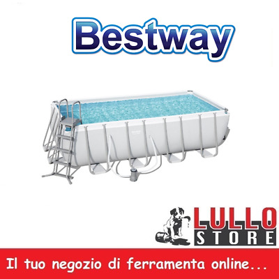 Piscina desmontable rectangular bomba escalera 488 x 244 x 122 cm Bestway