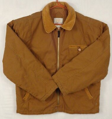 FADED GLORY Mens Winter Work Coat Warm Sz M Brown Cotton Canvas 22018A