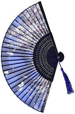 Chinease/Japanese Vintage Retro Style Design Bamboo Silk Folding Hand Held Fan