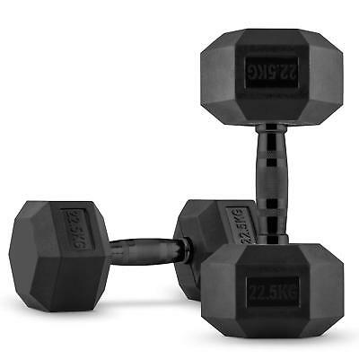 CAPITAL SPORTS Hexbell Dumbbell Paire d'haltères courts 2 x 22,5 kg musculation