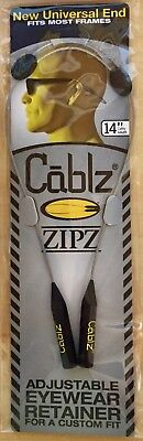Cablz Adjustable Sunglasses Glasses Holder Retainer.. ZIPZ.. Stainless 14""