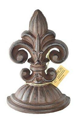 Lulu Decor, Cast Iron Fleur De Lis Door Stop, 2 Lbs, Door Stopper (Antique