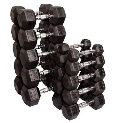 Rubber Hex Dumbbells Package 15 to 40 Kg Pairs 605 Kg