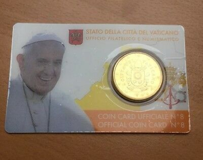 Vatikan official Coin Card N°8, 50 CENT EUROCENT 2017, Papst Franziskus LUXUS