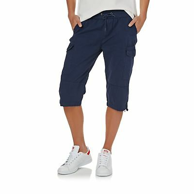 Swell Essential Cargo Long Womens Shorts Walk - Navy All Sizes
