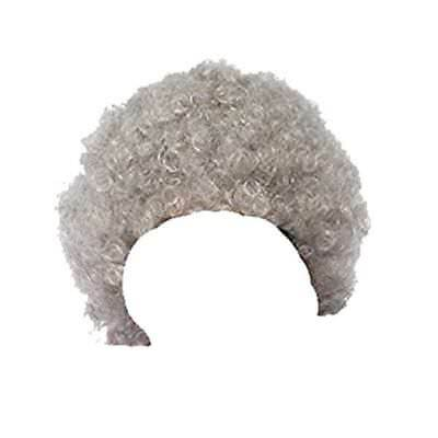Granny Old Lady Woman Oap Grandma Curly Grey Wig Fancy Dress Accessory Hen Night