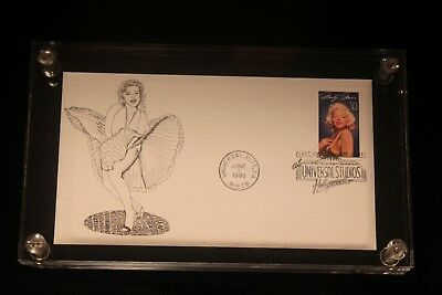Vintage Marilyn Monroe First Day Cover 1995 Universal Studio Lucite Paper Weight