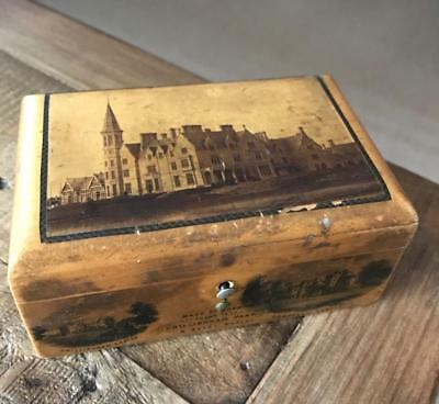 Beautiful Antique Mauchline Ware Box. Vintage Treen Box. Chillingham Park