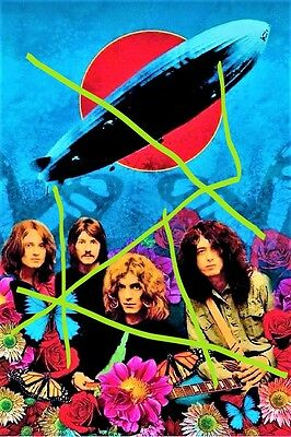 """""""led Zeppelin""""- 1969 ! A4- Glanzfoto !"""