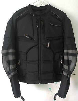 Motorcycle Jacket Xelement CF5050 Cordura Armored Jacket with Removable Sleeves
