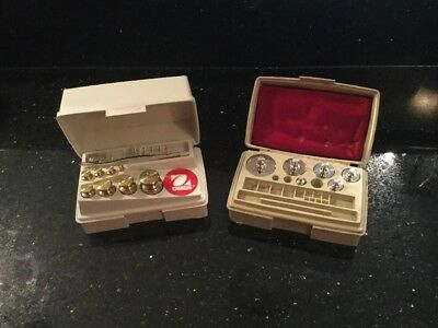 Vintage Ohaus Sto-A-Weigh Weight Fraction Calibration Set Germany Collectable