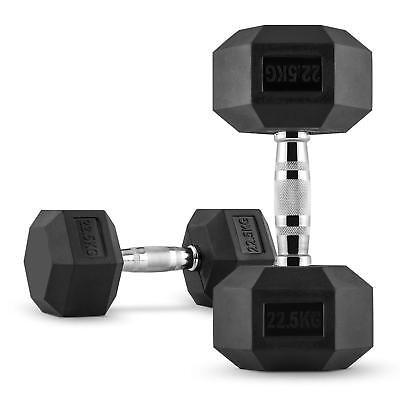 2 X Halteres Courts Capital Sports Hexbell Dumbbell 22,5 Kg Total 45Kg Fitness