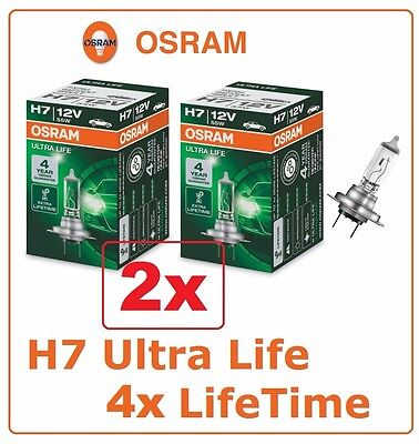 2x H7 Ultra Life 55W 12V 64210ULT OSRAM Headlight lamp halogen auto Germany