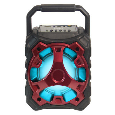 Fully Powered 500W Bluetooth Wireless Portable Multimedia Speaker - Blade10 Red
