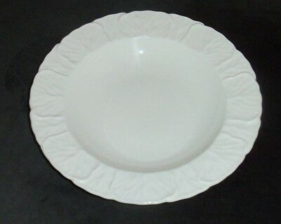 6 Coalport Countryware Large Rimmed Soup Bowls White Embossed Cabbage Leaves 6