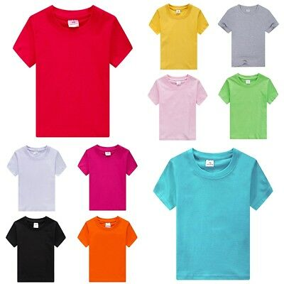 Fruit Of The Loom Blank Plain Childrens Kids T-shirt 1-13 Years School Craft And To Have A Long Life. Clothes, Shoes & Accessories