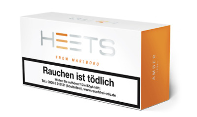 IQOS HEETS TOBACCO STICKS AMBER LABEL 10 Pack. à 20 HEETS