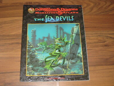 AD&D 2nd Monstrous Arcana The Sea Devils Accessory TSR 9539 + Map TOP