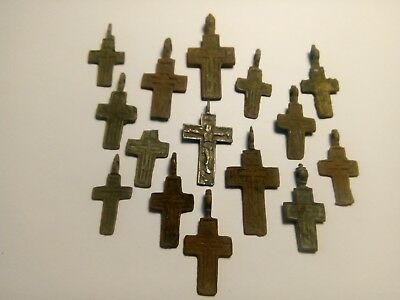 Ancient crosses  mix lot .Metal detector finds N2