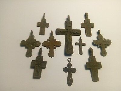Ancient crosses. Metal detector finds mix lot  N 5