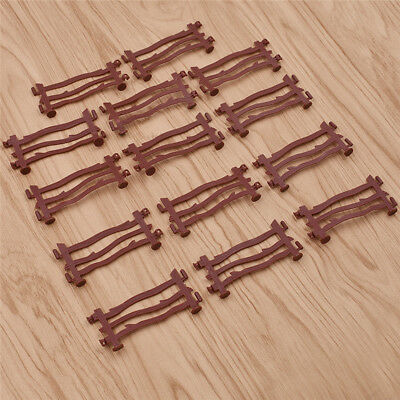 14PCS Military Fence Rail Board Plastic Toy Soldier Army Men Accessories kit RGZ