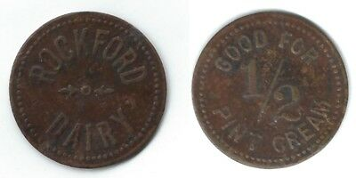 ROCKFORD DAIRY (MI or IL or OH or ???) Good For 1/2 Pint Cream Token