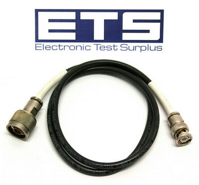 "Times Microwave Type N Male To BNC Male 32"" Coax Coaxial Cable"
