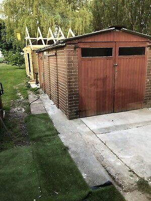 Single Concrete Sectional Garage, 6 sections plus 6 upright post