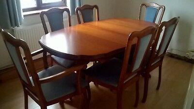 Miraculous John E Coyle Cherry Wood Extending Dining Table And 6 Chairs Bralicious Painted Fabric Chair Ideas Braliciousco