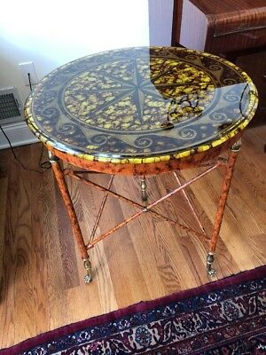 Maitland smith Glass Table