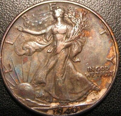 1940 WALKING LIBERTY ( A REAL NICE TONED ) # C-508-77j