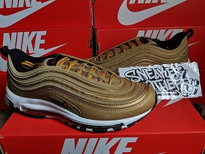 NIKE AIR MAX 97 OG QS 2018 Metallic Gold Varsity Red Bullet