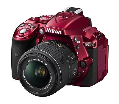 Nikon D5300 Red with AF-s 50 mm Lens